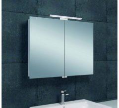 Saqu Essentials Spiegelkast met LED verlichting 80x60x14 cm