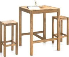Bar - Set in Eiche massiv ein Tisch mit zwei Hocker Stolkom Halifax