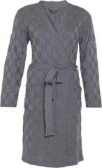 Grijze Knit Factory Badjas Ivy - Med Grey - L/XL