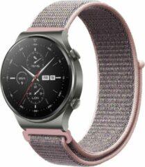 IMoshion Nylon Smartwatch Bandje voor de Huawei Watch GT 2,Huawei Watch GT 2 Pro,Huawei Watch GT 2e Sport 46 mm - Lichtroze