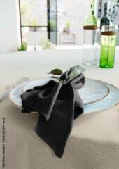 Mistral Home - set van 4 servetten - katoen polyester - 43x43 cm - zwart