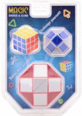Magische kubus en slang JohnToy - 3-pack - Breinbreker Johntoy
