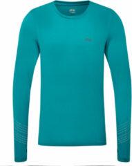 Blauwgroene Dhb Aeron FLT Long Sleeve Run Top - Hardloopshirts (lange mouwen)