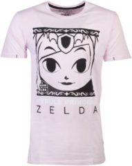 Nintendo Zelda Heren Tshirt -S- Hyrule Princess Roze