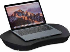 Relaxdays Laptop kussen met handvat - Zwart - Laptopstandaard - Schoot kussen
