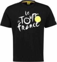 Gele Tour De France Officiële T-shirt Zwart - Maat 10/12 Jaar