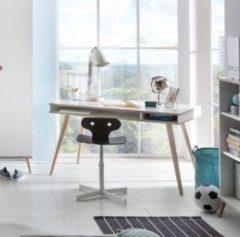 Schreibtisch mit Stauraum Alpinweiss/ Eiche Sägerau Wimex Billund