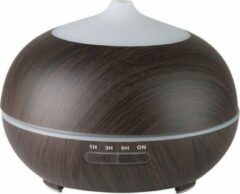 Dermasyis ACTIVE Aroma Diffuser Luchtbevochtiger Spa 06 Donker Hout 400ml + Timer