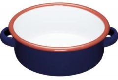 Emaille Serveerschaal - Blauw, 14cm - KitchenCraft - World of Flavours