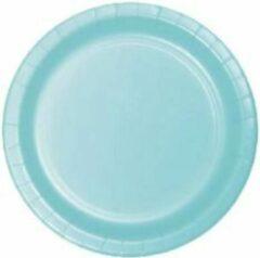 Stemen Kartonnen Bordjes blauw 18cm 20st - Wegwerp borden - Feest/verjaardag/BBQ borden / Gebak bordjes maat - feestjes - Babyshower