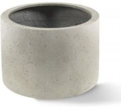 Luca Lifestyle Grigio plantenbak Cylinder M antiek wit betonlook