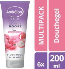 Andrélon Andrelon Douchegel Pioenroos - 6 x 200ml - Voordeelverpakking
