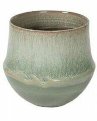 D&M Deco Pot Fusion Mint ronde bloempot voor binnen 32x31 cm mintgroen