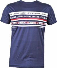 Legend Sports T-shirt navy blauw DriFit Legend inspiration quote XS