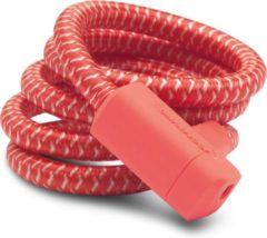 Urban Proof - Kabelslot braided - 150 cm - 15 mm - Kreeft rood
