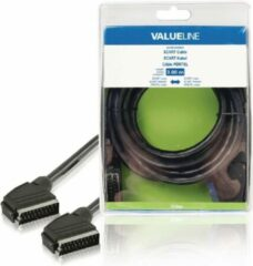 Valueline SCART, 3m SCART-kabel SCART (21-pin) Zwart