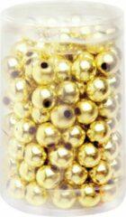 Goudkleurige Merkloos / Sans marque 240x stuks sieraden maken glans deco kralen in het goud van 10 mm - Kunststof reigkralen voor armbandjes/kettingen