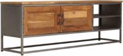 Bruine VidaXL Tv-meubel 120x30x40 cm gerecycled teakhout en staal