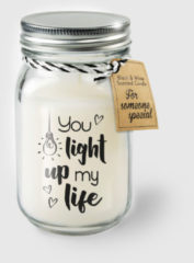 Witte Paper dreams Black & White geurkaars - Light up my life