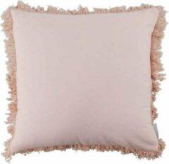 Roze Kussen Lola perzik 45×45 cm - Goround Interior
