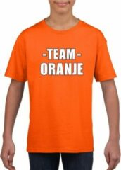 Bellatio Decorations Sportdag team oranje shirt kinderen S (122-128)