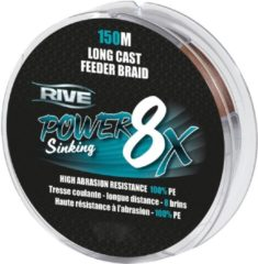 Rive Power Sinking Feeder Braid - Bruin - 8x 0.16mm - 150m - Bruin