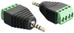 Delock Audio-Adapter - 4-poliger Anschlussblock (M) bis Stereostecker für Sub-Mini Telefon 2,5 mm (M) 65454