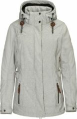Gebroken-witte Killtec dames winterjas Shinoa off white - maat 40