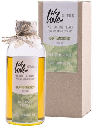 Afbeelding van We Love the Planet Huisparfum Geurstokjes Light Lemongrass (Navulfles - 200 ml)