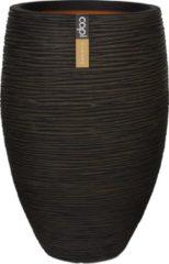 Capi europe Capi Nature Rib NL vase elegant luxe L 45x45x72cm Bruin bloempot
