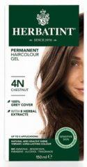 Herbatint 4N Kastanje – 100% biologische, permanente vegan haarkleuring – Met 8 plantenextracten– 150 ml