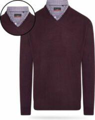 Bordeauxrode Pierre Cardin - Heren Sweaters Mock Pullover - Rood - Maat M