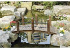 Gartenbrücke Sommerset HTI-Line Braun