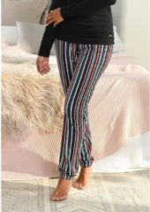 Blauwe S.Oliver RED LABEL Beachwear pyjamabroek met motief all-over en contrastkleurige koord