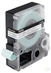Epson transparante tape breedte 18 mm, wit/transparant