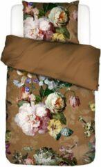 ESSENZA Fleur - Dekbedovertrek - Bruin - Eenpersoons – 140x220 cm + 1 kussensloop 60x70 cm