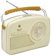 Creme witte GPO RYDELLCRE - Trendy Jaren 50 design radio - crème