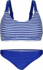 La V Bikini classic style - Blauwe strepen 170-176