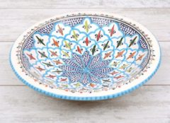 Blauwe Salade schaal Turquoise blue fine Ø 35 cm | SOR.BC.35 | Dishes & Deco