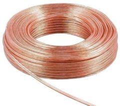Transparante Loudspeaker cable transaprent CCA 10 m Rolle, cable diameter 2 x 2,5 m