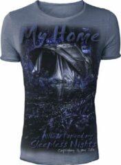 Blauwe Hotspot Design Vintage T-Shirt My Home - Maat M