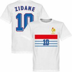 Witte Retake Frankrijk 1998 Retro Away T-Shirt + Zidane 10 - XS