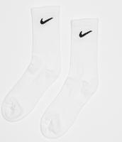 Nike Everyday Cushion Crew Sokken Sokken (regular) - Maat 38-42 - Unisex - wit/zwart