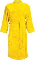 Classic Collection I2T Badjas badstof zonder Capuchon - Geel - S/M - 340 gr/m²