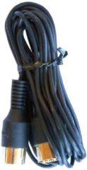 Zwarte Cavus 8-pins DIN Powerlink kabel voor B&O - 4-aderig - 7 meter