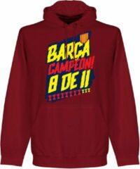 Retake Barcelona Campion 8 de 11 Hoodie - Donker Rood - XL