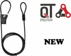 Cycle Tech kabelslot cijfercombinatie 2000 x 4,8 mm zwart