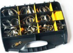 US.PRO Tools by Bergen RVS Slangklem assortiment 70-delig in stevige opbergdoos