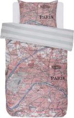 Covers & Co Paris Citymap - Dekbedovertrek - Eenpersoons - 140x200/220 cm + 1 kussensloop 60x70 cm - Multi kleur
