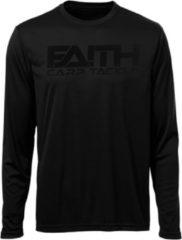 Zwarte Faith Long Sleeve Shirt - Black - Maat XXL